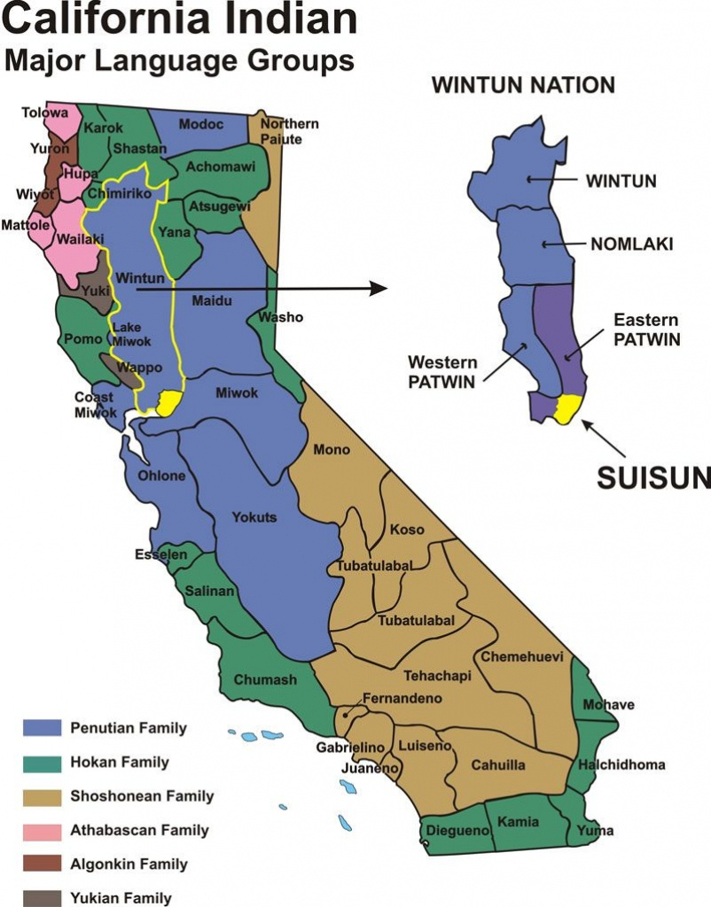 California Indians - Historical Map | Fairfield/suisun, California - Southern California Native American Tribes Map