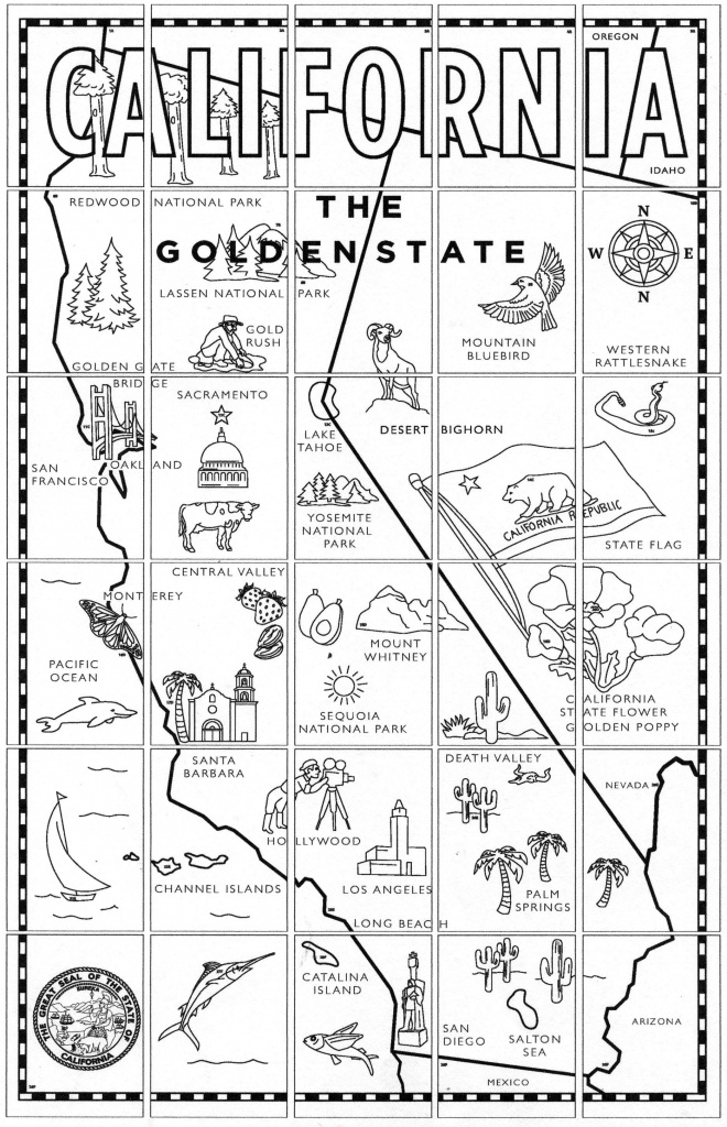 California Map Mural | End Of Year Projects | California Map, Art - California Missions Map For Kids