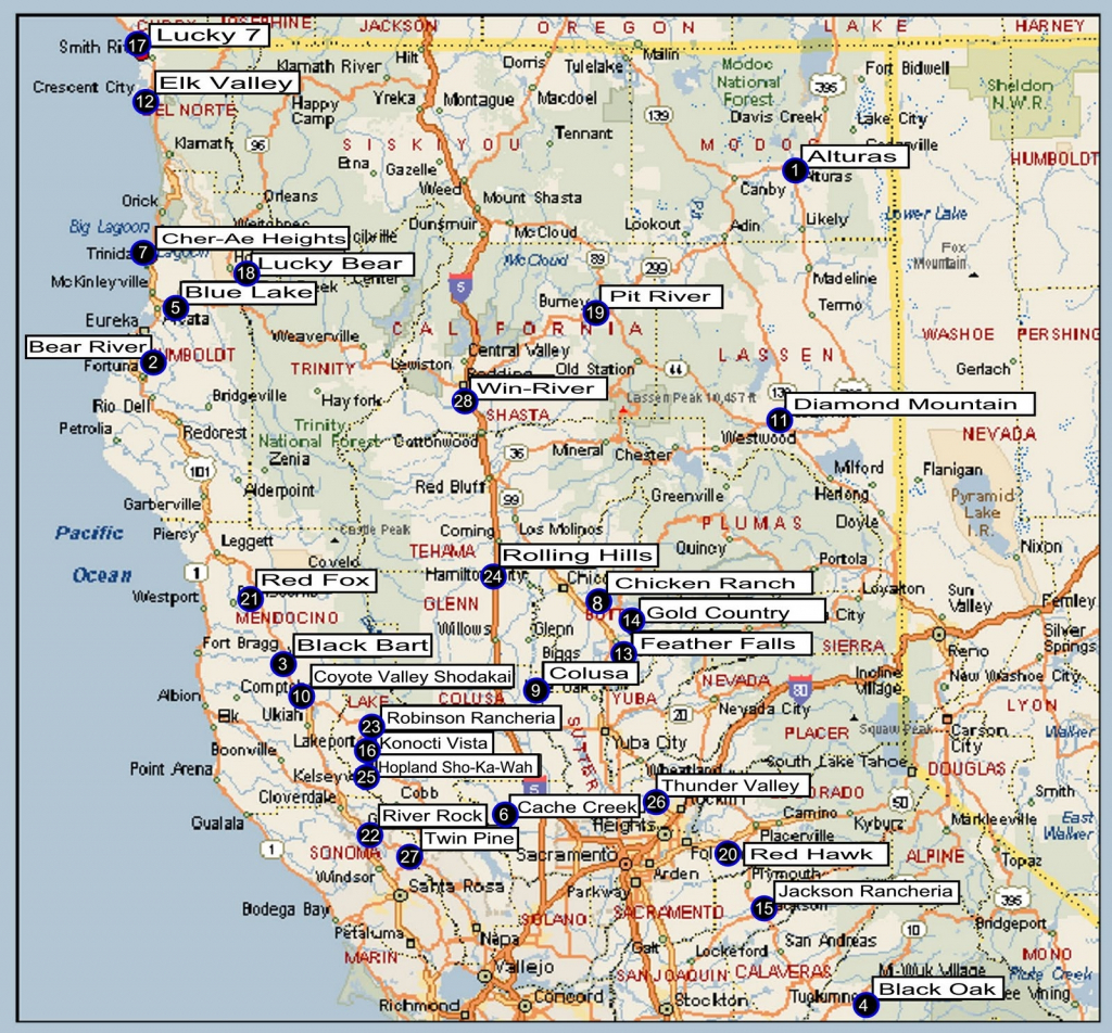 California Map Of Northern Cities – Map Of Usa District - Map Of Northern California Cities And Towns