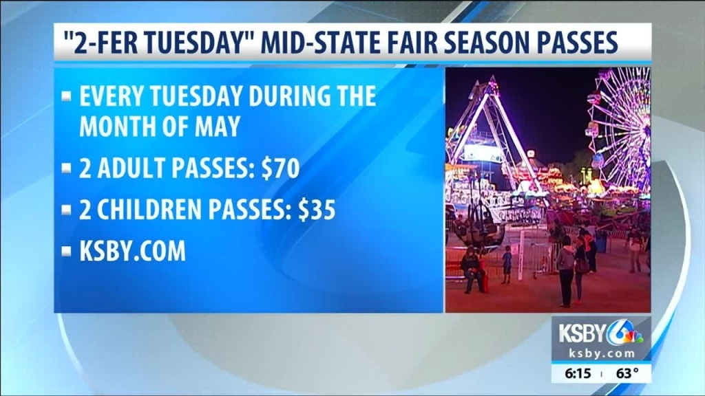 """California Mid-State Fair Offers """"2-Fer Tuesday"""" Promotion For - Map Of California Mid State Fair"""