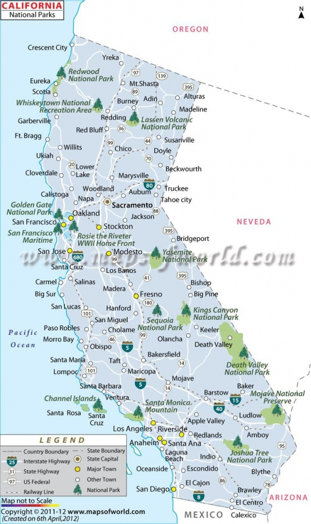 California National Parks Map | Travel In 2019 | California National - Northern California National Parks Map