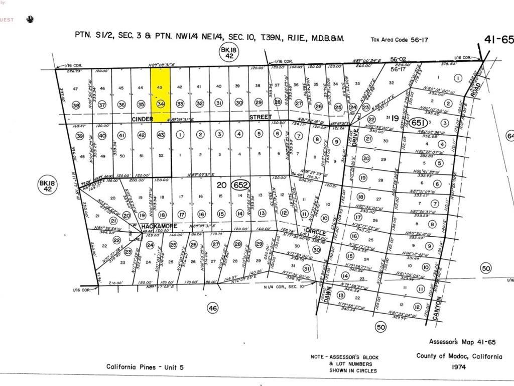 California Pines Lot In Modoc, Ca : Lot For Saleowner : Alturas - California Pines Parcel Map