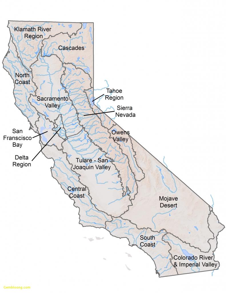 California Rivers - California Rivers Map