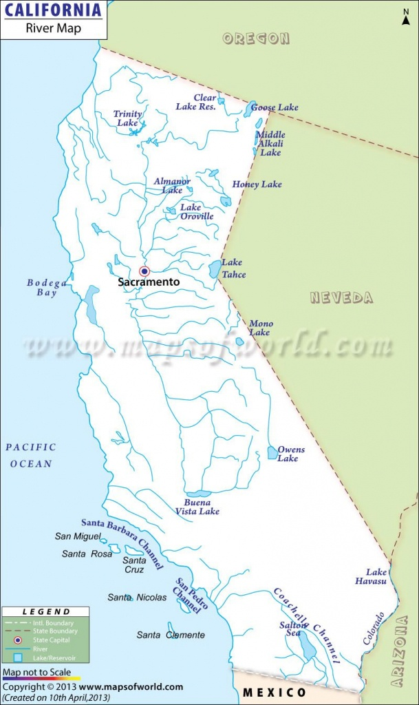 California Rivers Maps And Travel Information   Download Free - Southern California Rivers Map