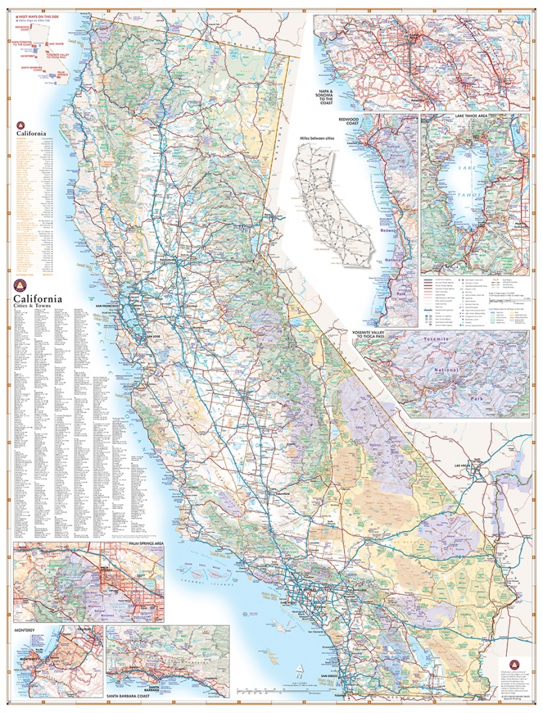 California Road Map — Benchmark Maps - Detailed Road Map Of Northern California