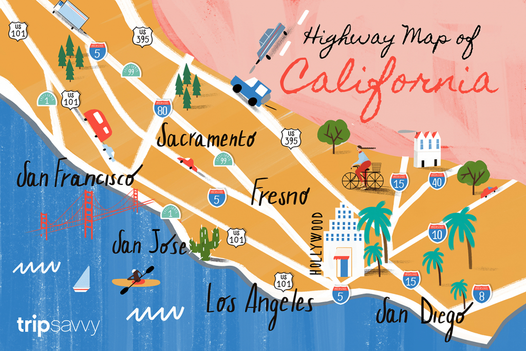 California Road Map - Highways And Major Routes - California Scenic Highway Map