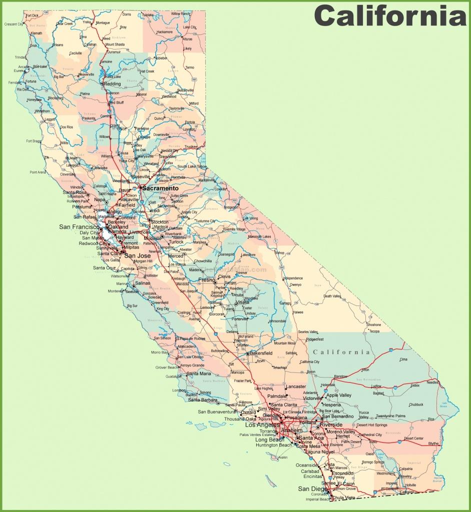 California Road Map - Large Map Of California