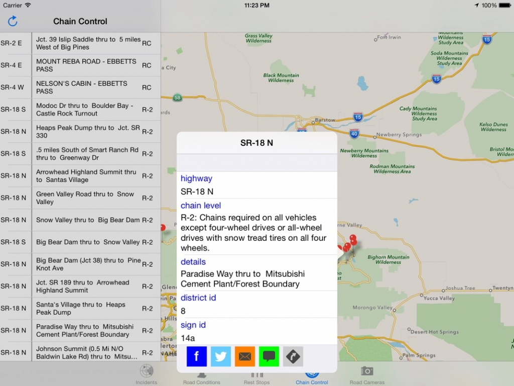 California Road Report - Online Game Hack And Cheat   Gehack - California Chain Control Map