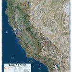 California Satellite Wall Map   Maps   Satellite Map Of California