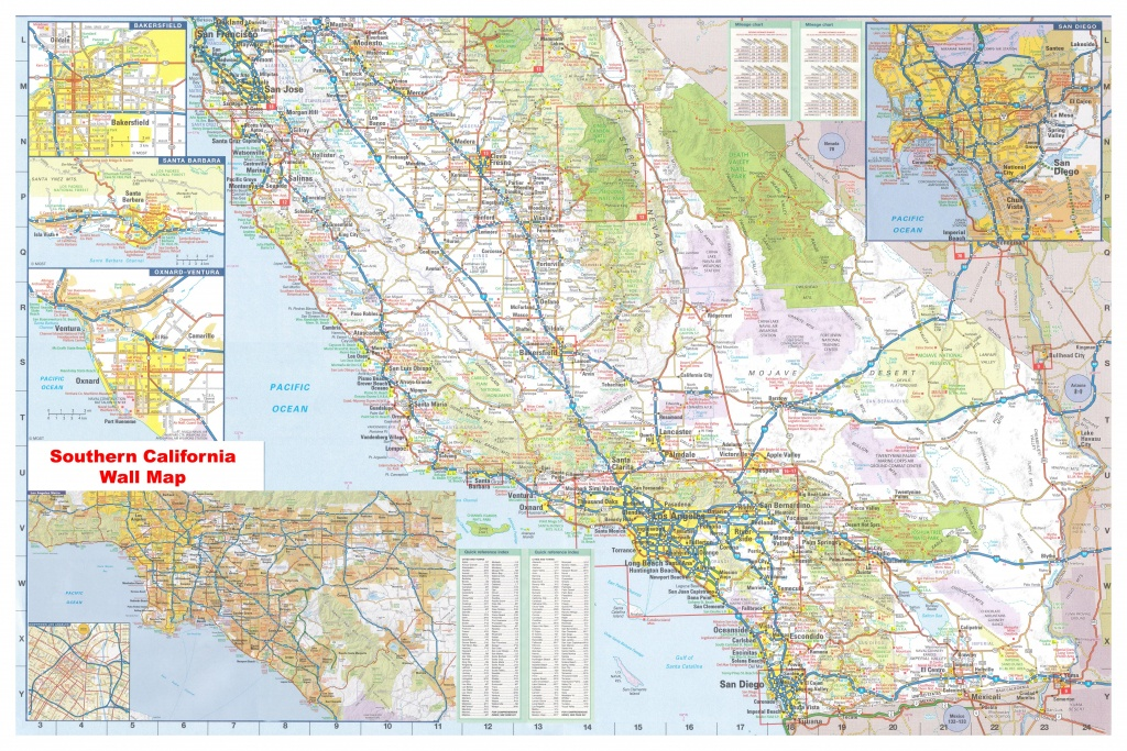 California Southern Wall Map Executive Commercial Edition - Map Of Southeastern California