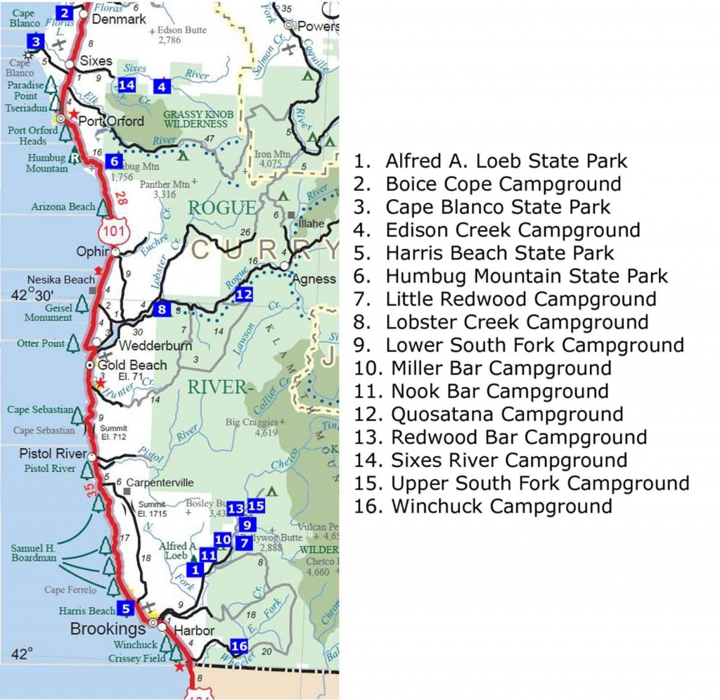 California State Campgrounds Map | Best Of Us Maps 2018 To Download - California State Campgrounds Map