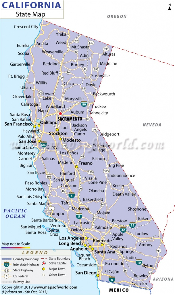 California State Map - Map Of California Cities