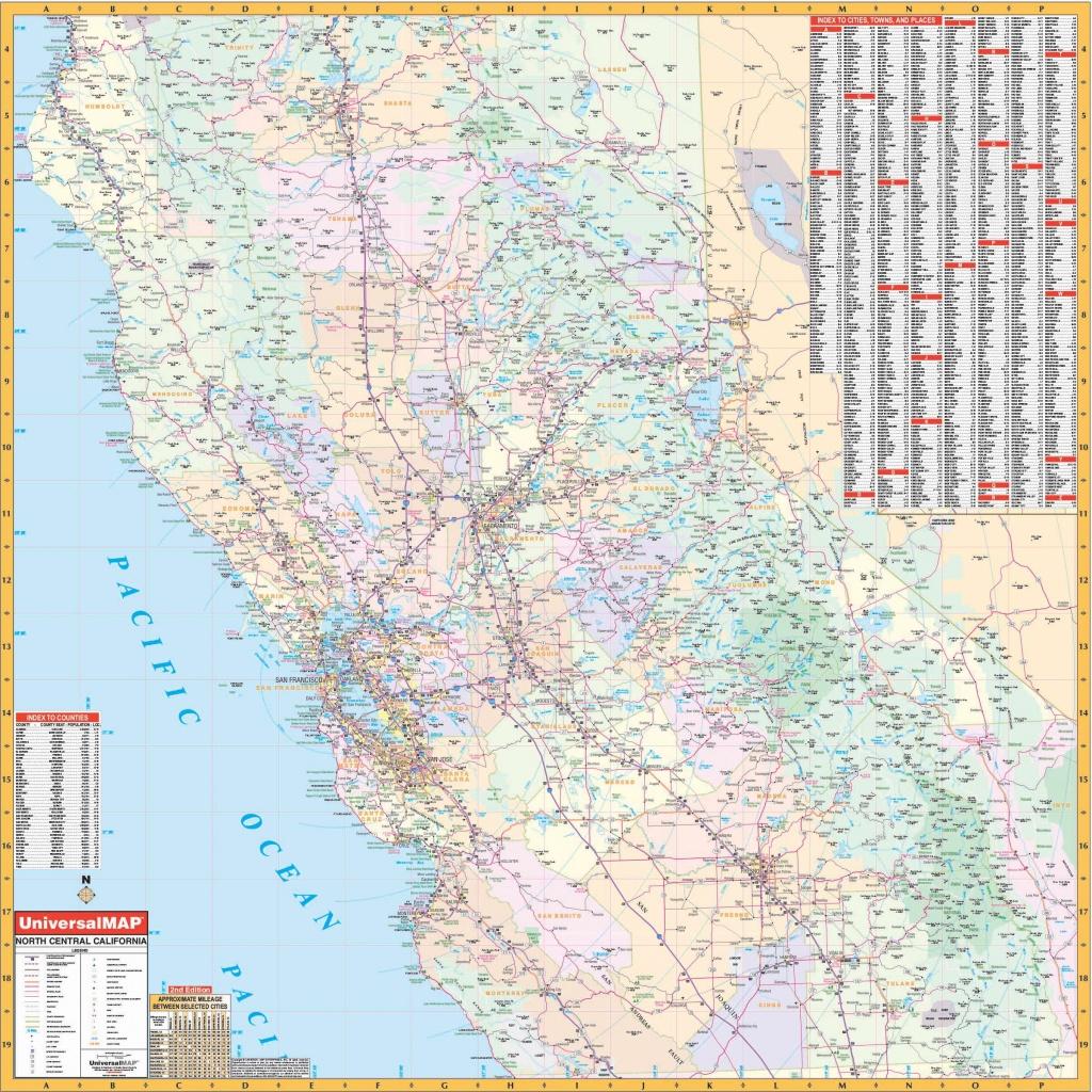 California State North Central Wall Map – Kappa Map Group - Map Of Central California