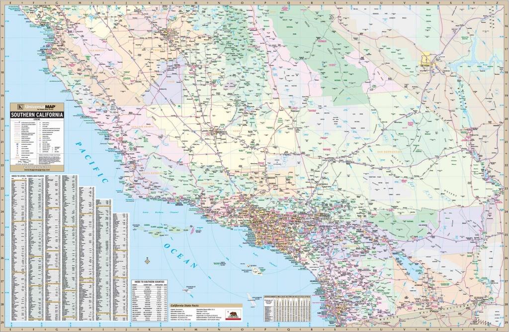 California State Southern Wall Map – Kappa Map Group - California Wall Map