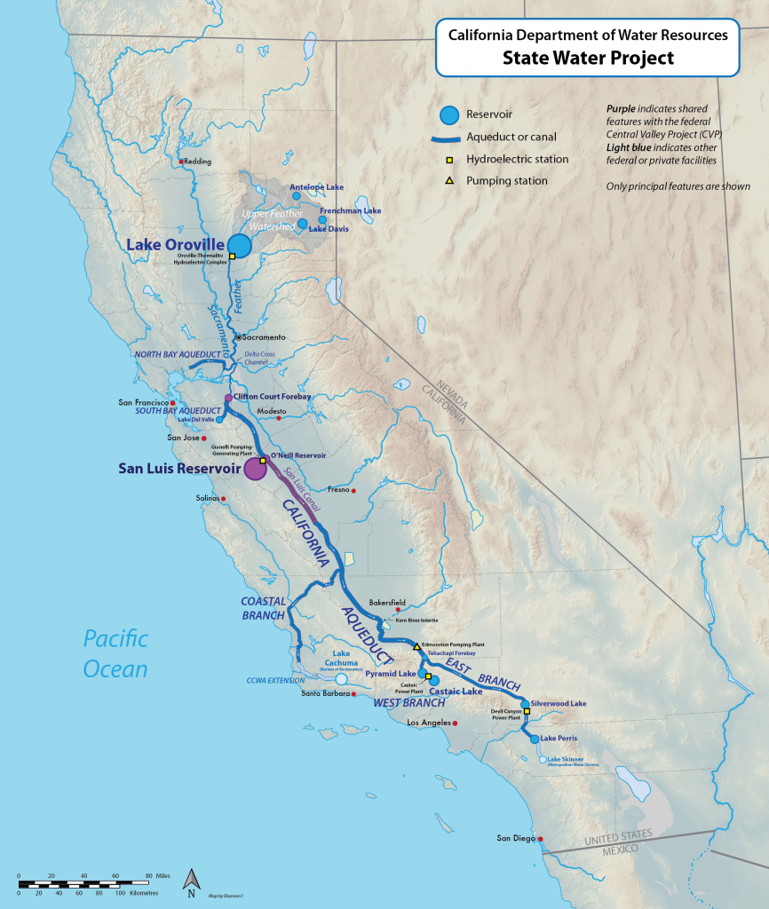 California State Water Project - Wikipedia - California Reservoirs Map