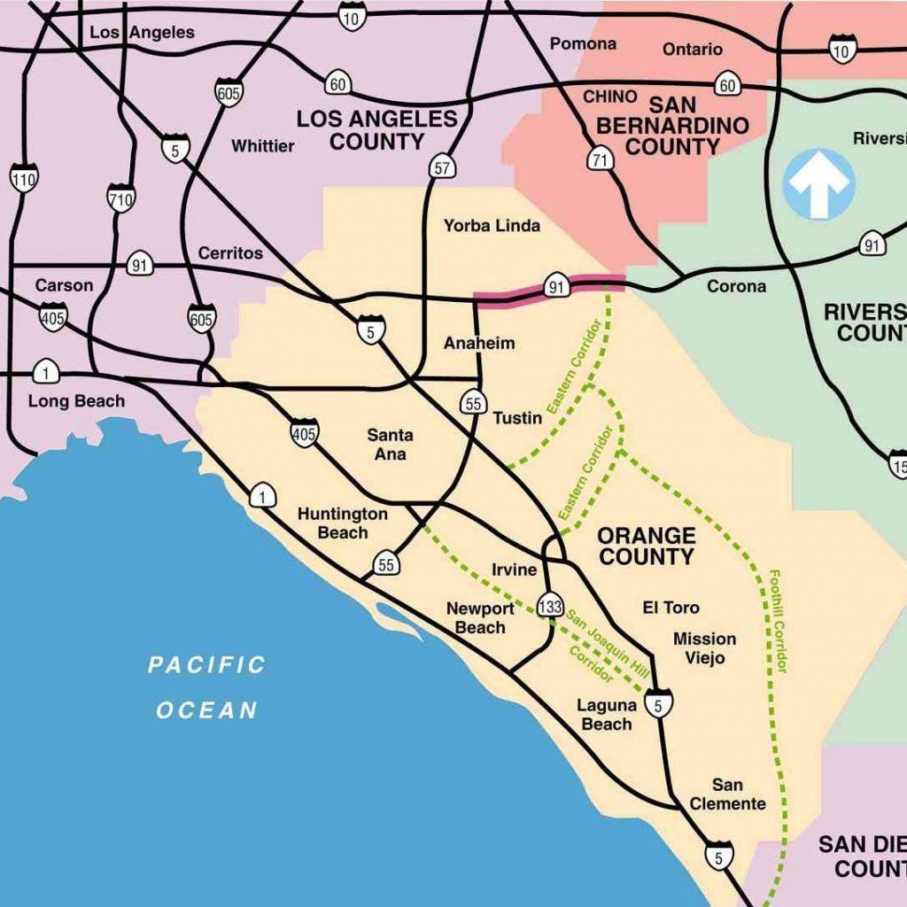 California Toll Roads Map Route 91 - California Toll Roads Map
