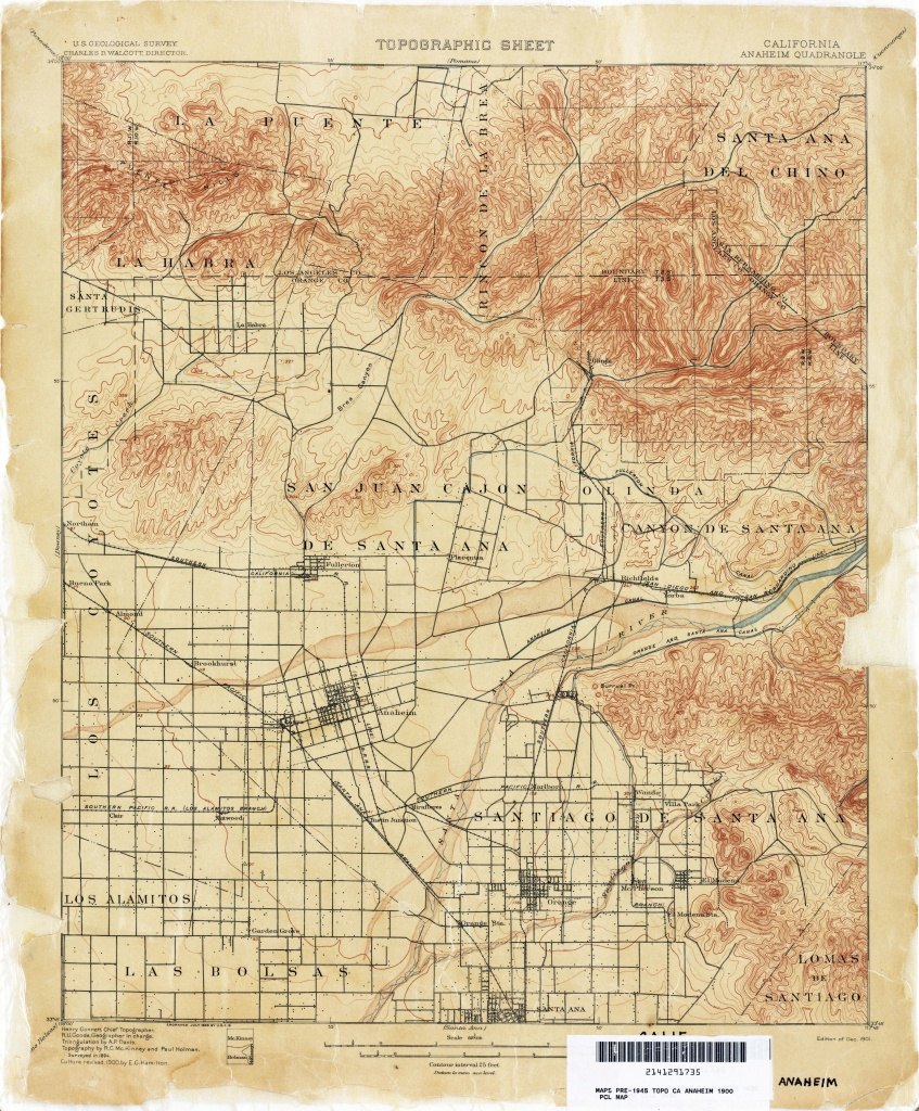 California Topographic Maps - Perry-Castañeda Map Collection - Ut - Printable Map Of Riverside County