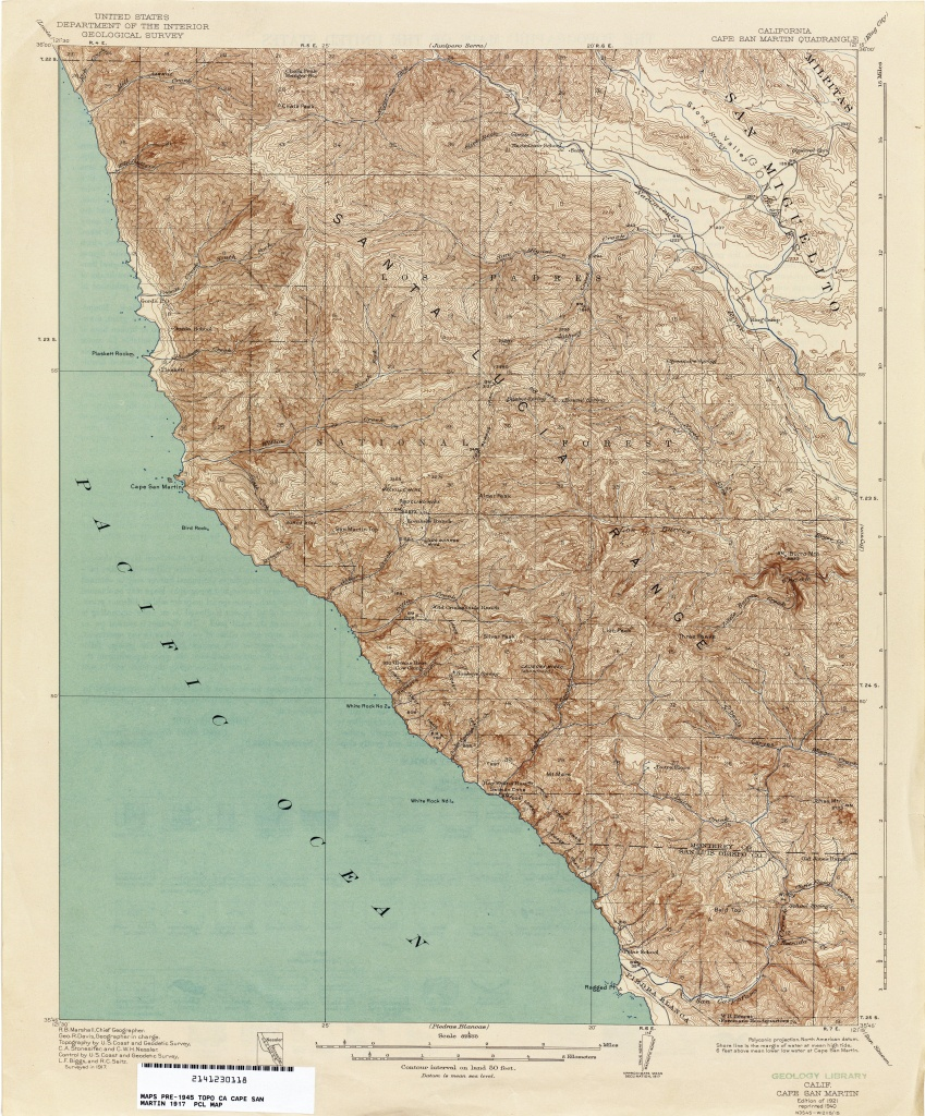 California Topographic Maps - Perry-Castañeda Map Collection - Ut - Usgs Maps California