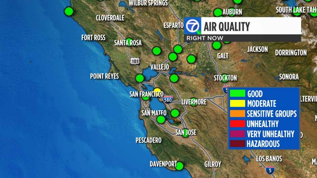 California Wildfires: Check Current Bay Area Air Quality Levels - Map Of Current Fires In Southern California