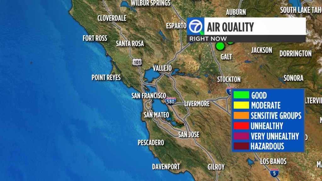 California Wildfires: Check Current Bay Area Air Quality Levels - Southern California Air Quality Map