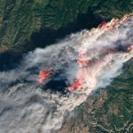 California Wildfires: Satellite Images Of Camp, Hill, Woolsey Fires   California Wildfire Satellite Map
