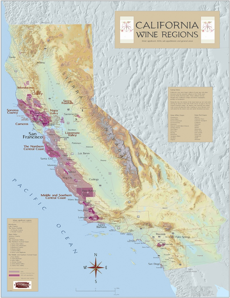 California Wine Regions - California Wine Appellation Map