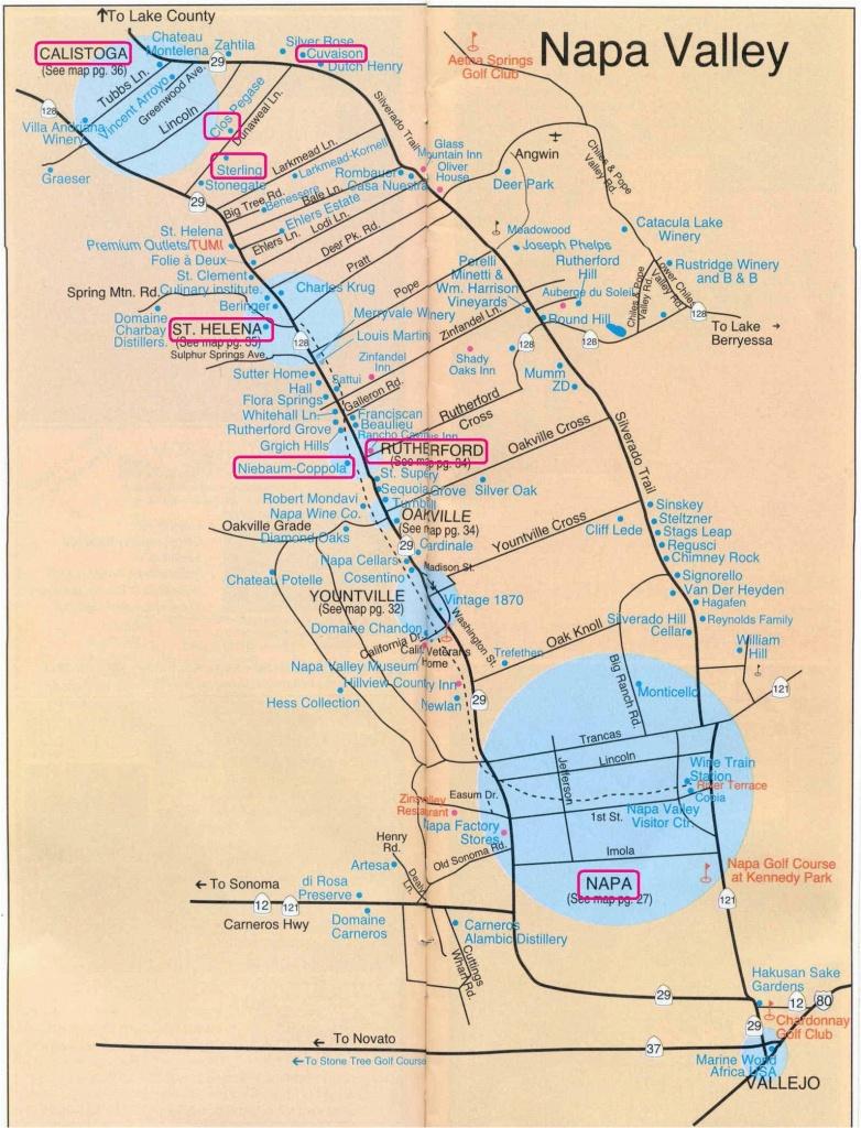 California Wine Tours Map | Secretmuseum - Napa Winery Map Printable