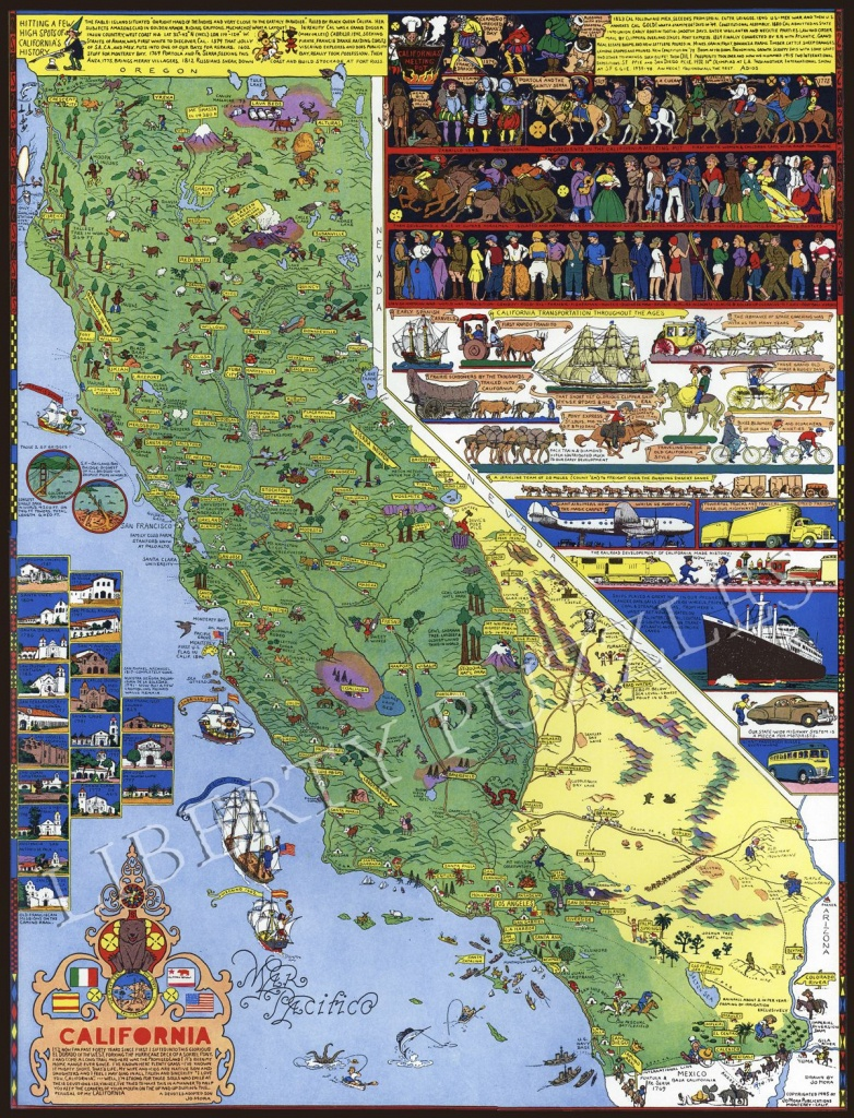 California - Wooden Jigsaw Puzzle - Liberty Puzzles - Made In The Usa - California Map Puzzle