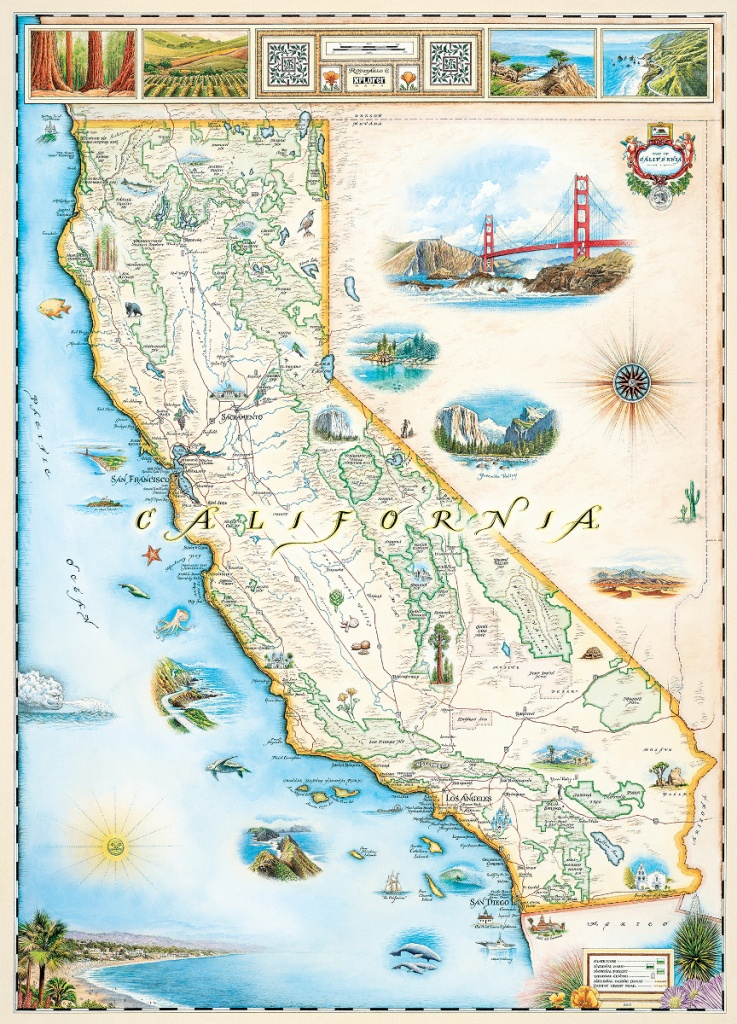 California (Xplorer Maps) Jigsaw Puzzle   Puzzlewarehouse - California Map Puzzle