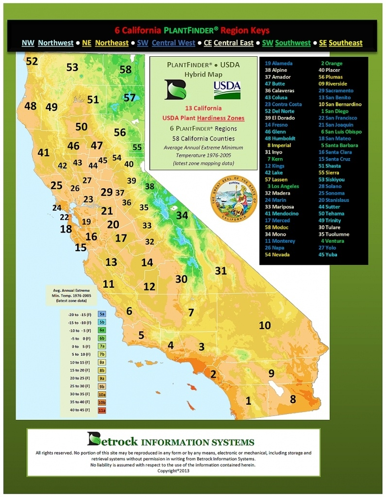 California Zone Map For Plants – Map Of Usa District - Usda Hardiness Zone Map California