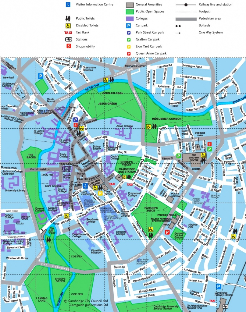 Cambridge Tourist Map - Printable Map Of Cambridge Ma