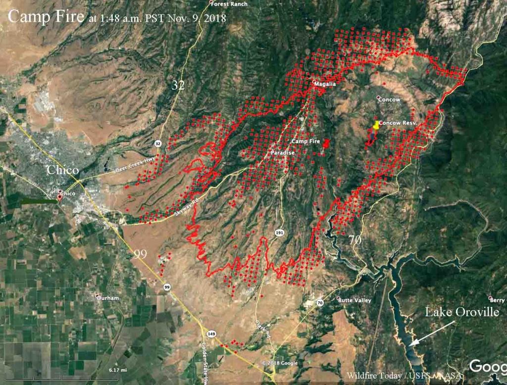 Camp Fire Map Google | Danielrossi - California Fire Map Google