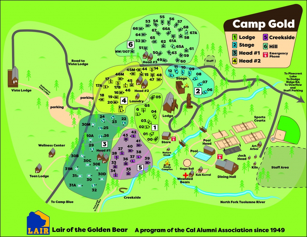 Camp Maps | Caa - California Tent Camping Map