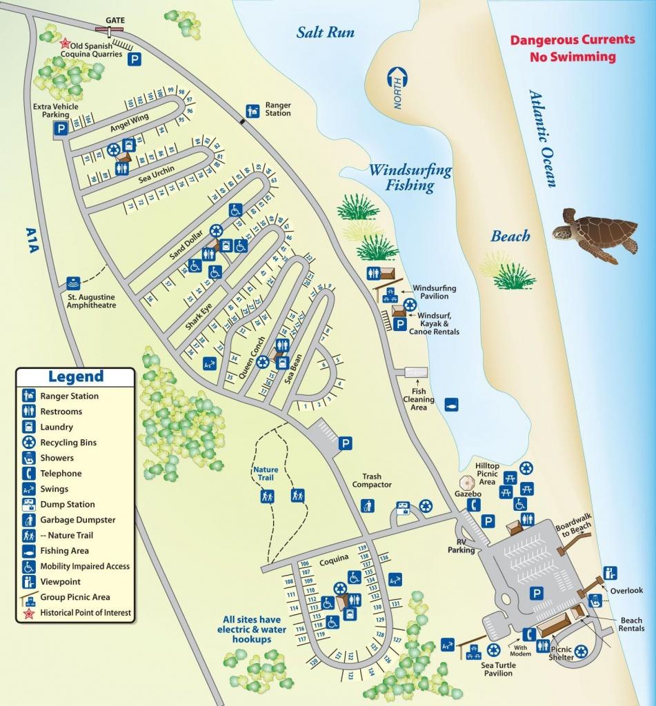Campground Map Anastasia State Park | Florida | Florida Camping - Camping In Florida State Parks Map