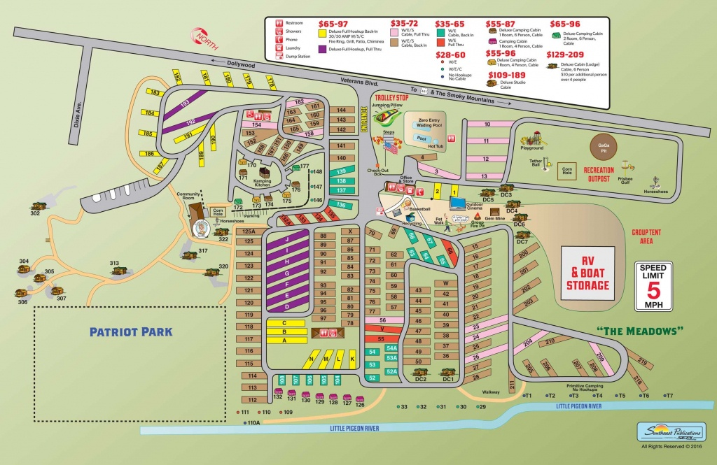Campground Site Map   Rving   Rv Camping, Pigeon Forge, Rv Camping Tips - Printable Street Map Of Pigeon Forge Tn