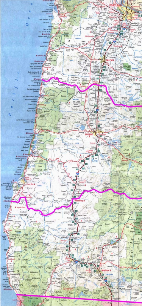 Camping Oregon Coast Map Map Of Oregon And California Coast Valid - Oregon California Coast Map