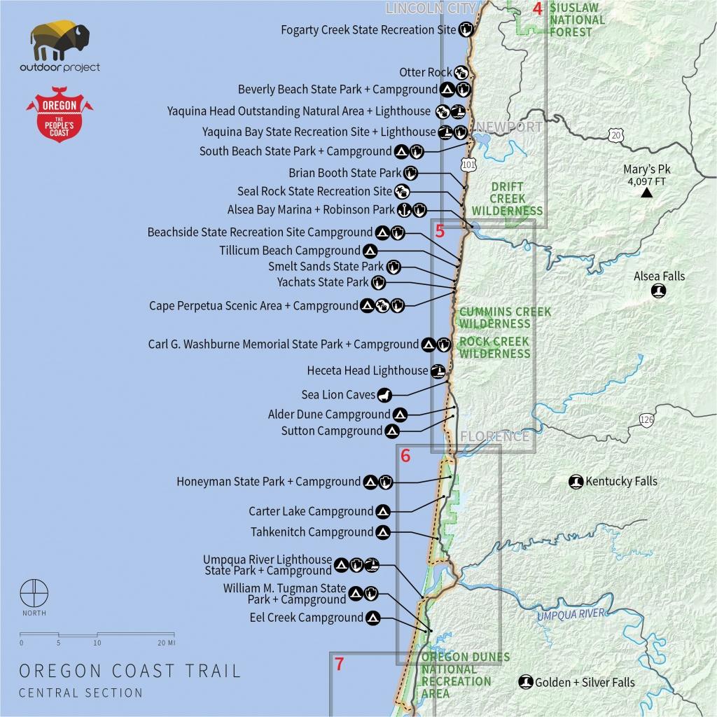 Camping Oregon Coast Map | Secretmuseum - Camping Northern California Coast Map