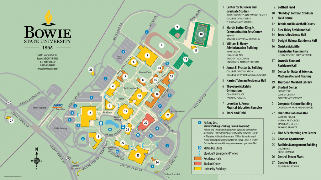Campus Map · Bowie State University - Boise State University Printable Campus Map