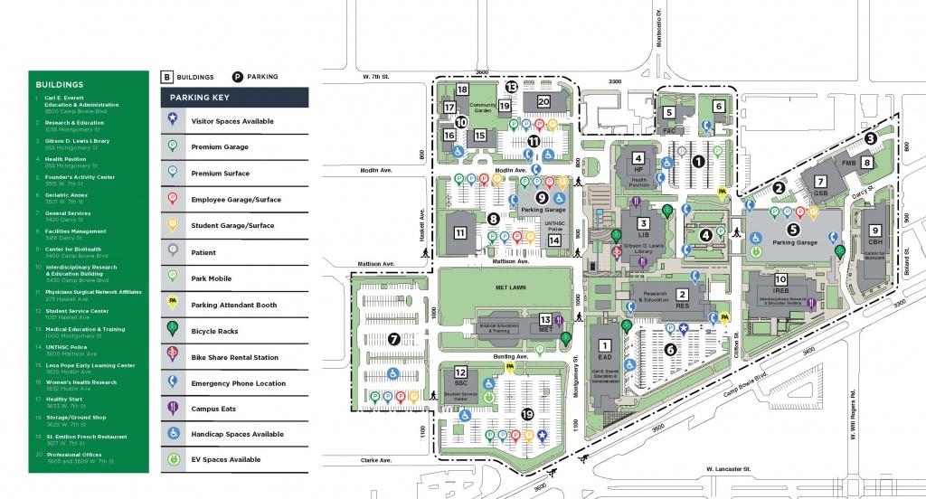 Campus Map - Police - Texas Health Dallas Map