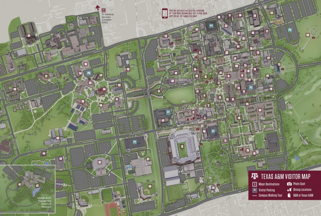 Campus Map | Texas A&m University Visitor Guide - Texas A&m Housing Map