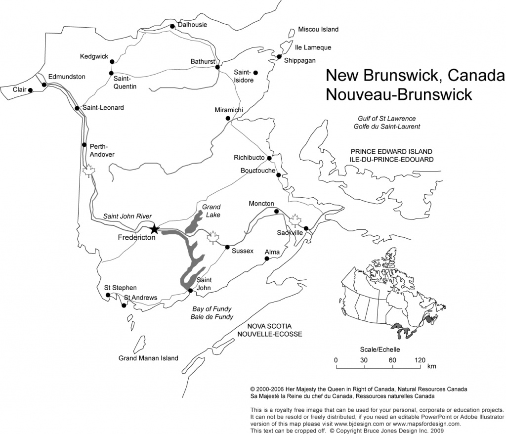 Canada And Provinces Printable, Blank Maps, Royalty Free, Canadian - Printable Map Of New Brunswick