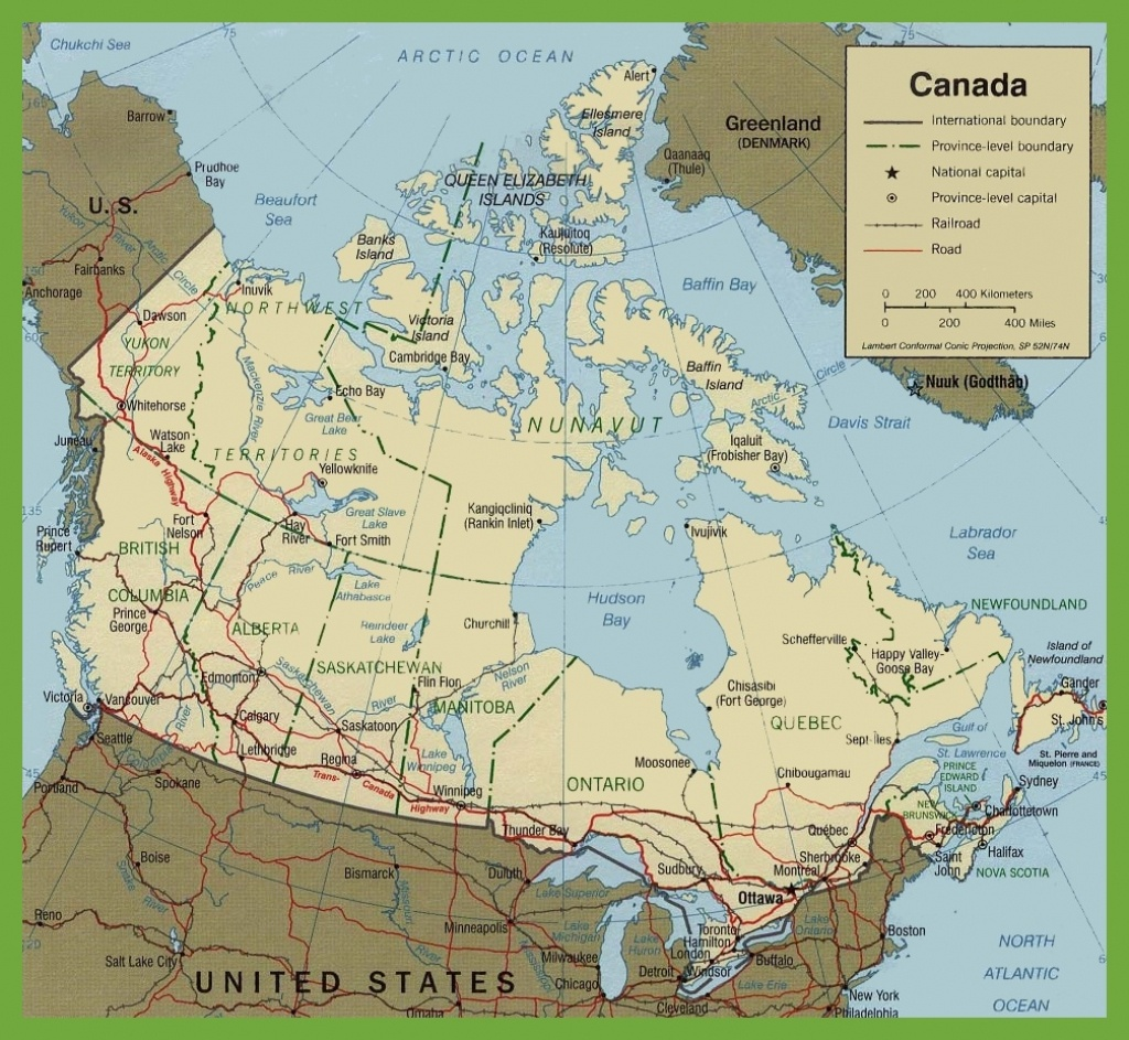 Canada Road Map - Printable Road Map Of Canada