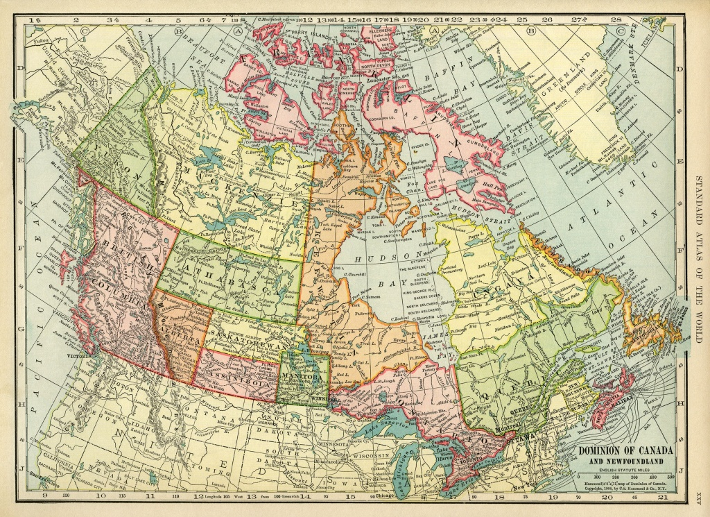 Canadian Map, Vintage Map Download, Antique Map Canada, C. S. - Canada Map Puzzle Printable