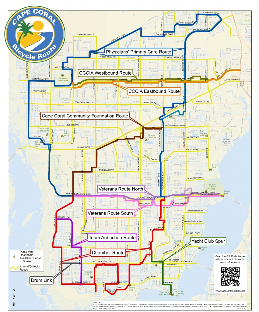 Cape Coral Bicycling Interactive Maps - Map Of Florida Including Cape Coral