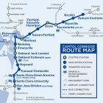 Capital Corridor Train Route Map For Northern California   Amtrak Map California