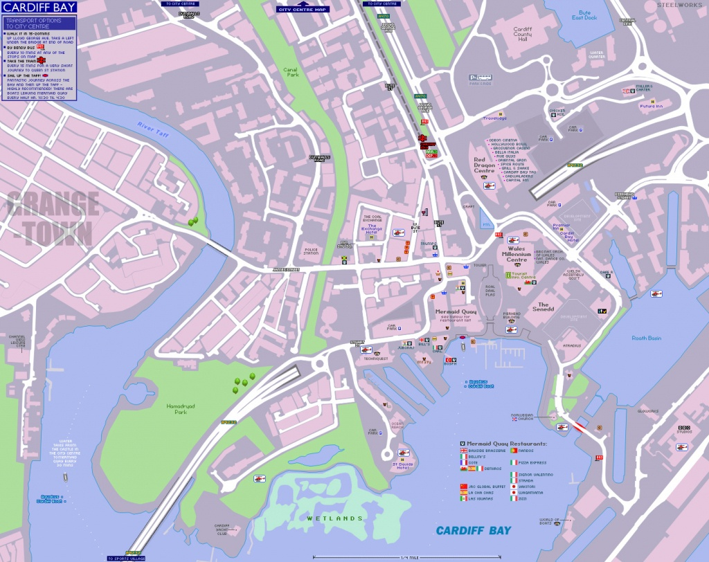 Cardiff Bay Map - Printable Map Of Cardiff