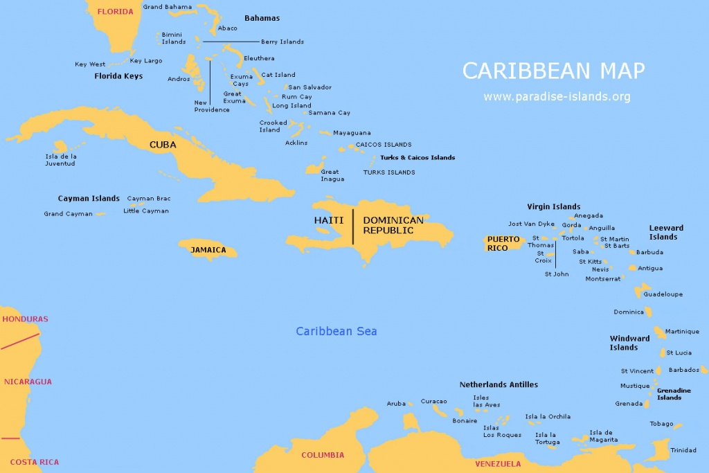 Caribbean Map | Free Map Of The Caribbean Islands - Maps Of Caribbean Islands Printable
