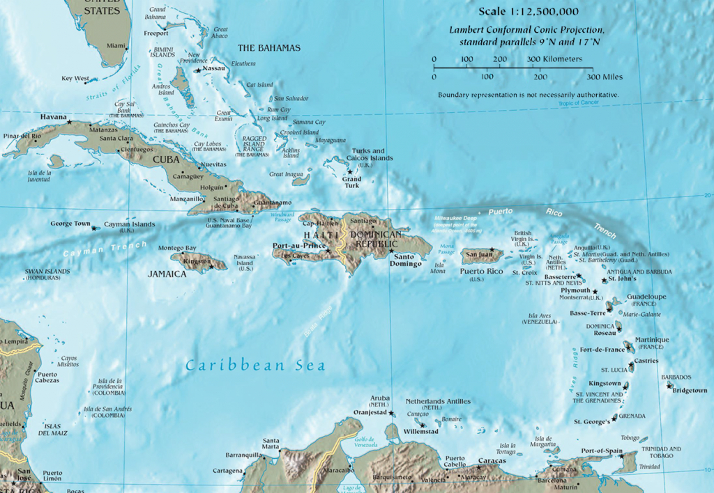 Caribbean - Wikipedia - Map Of Florida And Caribbean