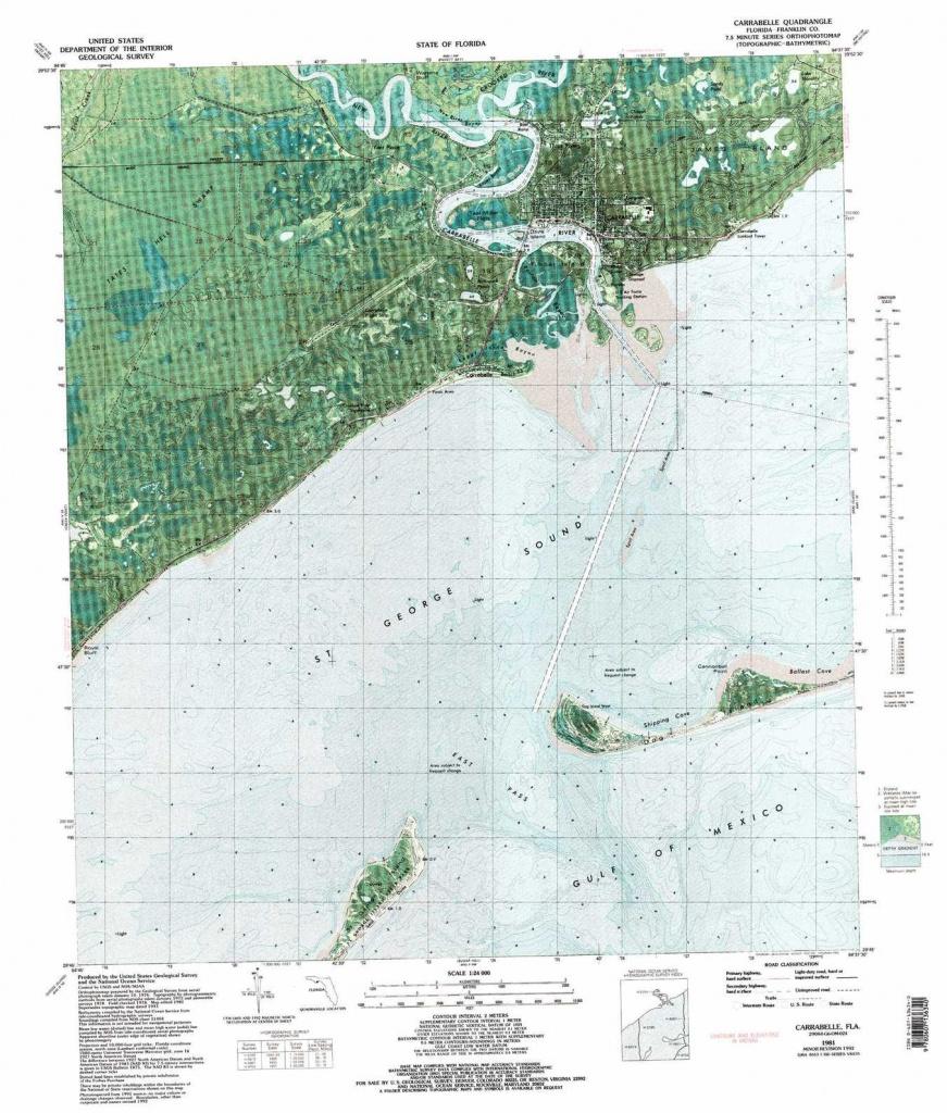 Carrabelle Topographic Map, Fl - Usgs Topo Quad 29084G6 - Carrabelle Florida Map