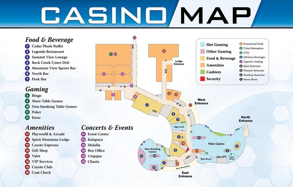 Casino & Gaming | Spirit Mountain Casino - Casinos In Texas Map